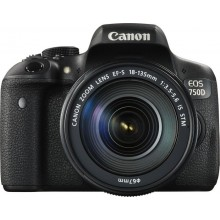 Canon EOS 750D mit Objektiv EF-S 18-135mm 3.5-5.6 IS STM (0592C029)